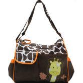 Baby Boom Giraffe Maternity Fashion Baby Diaper Organizer and Baby Changer Diaper Messenger Bag (Orange)