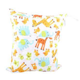 Niceeshop niceEshop Baby Infant Waterproof Wet and Dry Diaper Bag for Baby Carriage (Giraffe)