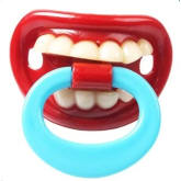 Baby Orthodontic Nipple Teether Cute Funny Teeth Red Lips Creative Style Soother Pacifier (Intl)