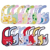 OH 1pc Cute cotton waterproof Baby Boys Girls Kids Children Bibs Saliva Apron White suit (Intl)