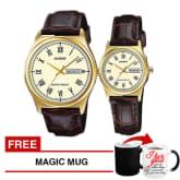 Casio Couple Watch Gold MTP-V006GL-9B & LTP-V006GL-9B