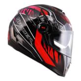 Spyder SPYDER Full Face Helmet Dual Visor Recon GD 365 (Black/Red)