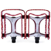 Timezone TimeZone 2 Pcs SETSAIL 662 Mountain Bike Pedals with Double-deck Gear Frame 2 Bearings (RED)