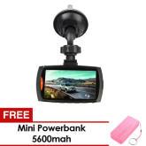 Unbranded 1080P Car DVR Dash Camcorder (Black) and FREE Mini Powerbank 5600mah