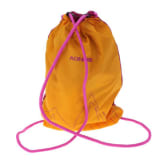 Outdoor Draw String Bag String Backpack Promotional Bag Yellow and Pink