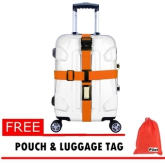 Pilot NP-005 Adjustable Quick Release Buckle Luggage Suitcase Packing Strap Belt Tie (Orange)With Free Pouch & Luggage Tag