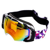 Vakind Unisex Double Lens Anti-fog Goggles Spherical Ski Glasses with Case Kit (Intl)