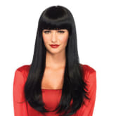 Unbranded Black Wig with Bangs