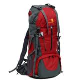 Super Large Capacity Outdoor Sports Mountaineering Backpack Hiking Bag Travel Bag Backpack Shoulder Bag 65+5L (Red) (Intl)