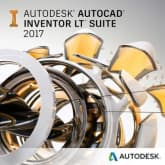 Autodesk AutoCAD Inventor LT Suite 2017 Commercial New Single-user ELD Annual Subscription with Advanced Support