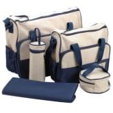 5Pcs Baby Nappy Diaper Organiser Changing Bag Handbag Bottle Holder Change Mat - Intl