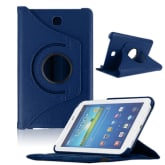 Rotating 360 Cover for Samsung Galaxy Tab3 7Inch Tablet T210 (Dark Blue)