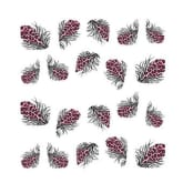 Oem Beauty Colorful  Feather Decals Leopard Water Transfer Stickers 3D Nail Art Tips 1743