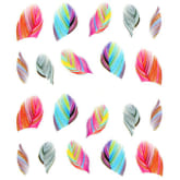 Oem Beauty Colorful Leopard Water 1724 Transfer Stickers 3D Nail Art Tips Feather Decals