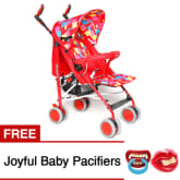 Tickle 668-1 High Impact Baby Stroller (Red) with FREE 2 Pacifier