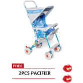 Tickle 1772 High Impact Baby Stroller (Blue) with Free 2 Pieces Pacifier