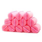 Oem OEM Fang 12 Pcs Sponge Foam Harmless Hair Styling Curler Roller (Pink)
