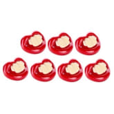 Tickle Joyful Baby Little Professor Funny Design Pacifier Set of 7 (Red)