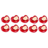 Tickle Joyful Baby Little Professor Funny Design Pacifier Set of 10 (Red)