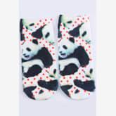 Oem OEM 3PC Women's Socks Low Cut Ankle Cotton 3D Printed Animals Cartoon Panda (Intl)