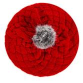 Vakind VAKIND New Kid Hat Baby Handmade Knit Crochet Baby Hat Cute Warm Beanie (Red)