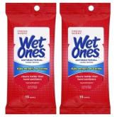 Unbranded Wet Ones Antibacterial Hand Sanitizers Wipe Pack of 15 Set of 2