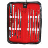 Vococal 10 PCS Set Stainless Steel Dental Lab Equipment Dental Kit Wax Carving Tool Set Dentist Instruments Tool Kit
