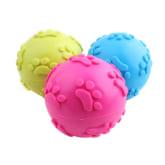 Foxnovo Molar Teeth Rubber Footprint Ball Toy for Pets Dogs Cats (Random Color)