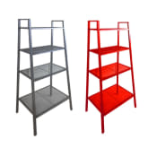 Ikea IKEA LERBERG Shelf Unit (Dark Grey) and IKEA LERBERG Shelf Unit (Red) Bundle