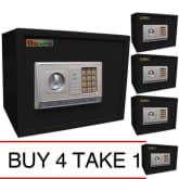 Isafe iSAFE iSF-30BLK Safe Electronic Digital Safe Safety Vault (Black) BUY 4 TAKE 1