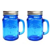 Homu Plain Lid Mason Mug Set of 2 (Dark Blue)