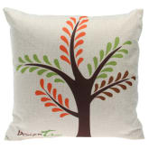 Oem Cartoon Trees Pattern Bedding Square Cotton Pillow Case