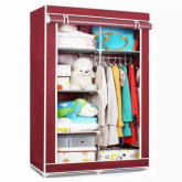 Lanbis Fashion Storage Wardrobe (red)wardrobe