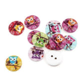 1 Bag 100pcs Mixed Pattern Wooden Buttons Fit Sewing and Scrapbook 20mm H546 (Intl)