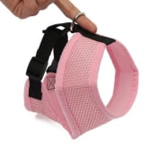 Oem UK Adjustable Mesh Puppy Dog Harness Vest Fabric Pet Clothes Pink XS