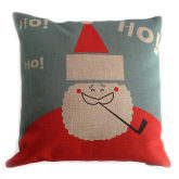 Cotton Linen Decorative Pillowcase Throw Pillow Cushion Cover Pillowcase Without Pillow Inner Cartoon Santa