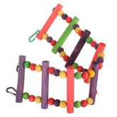 Oem Flexible Pet Bird Parrot Play Toy Ladder Multicolor