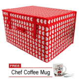 Unbranded Khome Storage Box Passion Flower (Red) with FREE Chef Coffee Mug (color may vary)