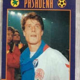 Kartu bola upper deck world cup USA 94 postcard from Pasadena #301 Brian laudrup Denmark