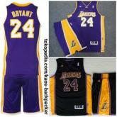 Setelan Jersey Basket NBA Swingman LA Lakers Kobe Bryant Purple Blac