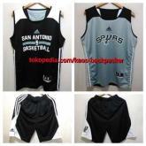 Setelan Jersey Basket NBA San Antonio SPURS Reversible Bolak Balik