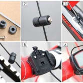 Speedometer Odometer Sepeda LCD Waterproof Stopwatch menghitung perputaran roda saat anda ber sepeda