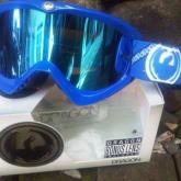 Goggle DRAGON MDX Blue MIRROR LENS paisley + CLEAR LENS
