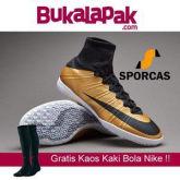 GRATIS KAOS KAKI BOLA !! Sepatu Futsal | Nike MercurialX Proximo IC - Metallic Gold Grain Sporcas Store