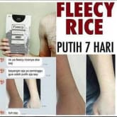 Fleecy Rice Body Scrub Original Murah Berkualitas