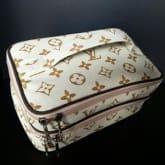 WSO LV Monogram Krem (Woman Stuff Organizer) Tas Kosmetik 2 susun Cosmetic Bag
