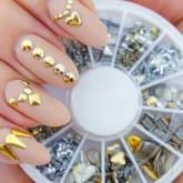 Metal Stud Wheel Gold Studed Silver Stud Nail Art Case