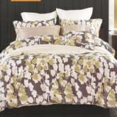 Sleep Buddy Bed Sheet Cotton Sateen Brown Leaf Queen Size