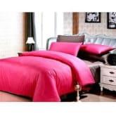 Ellenov Sprei + Rumbai Polos Pink Abu Single (120 x 200 x 20 cm)