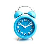 Mikado Twin Bell Alarm Clock Blue 266140046 - Biru